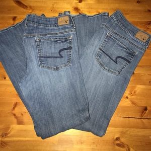 2 pair of America Eagle Jeans